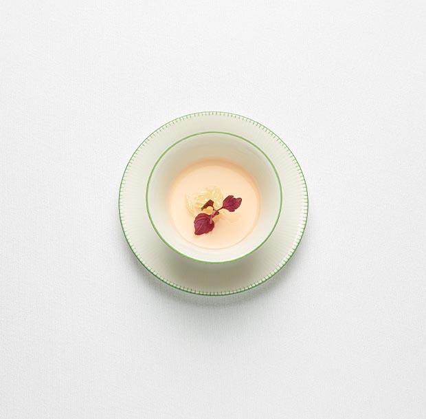 Crème citron, gelée Shiso - Christophe Pelé - YAM Cuisine